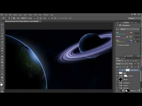 How to make a Planet with Rings (HD) Photoshop Tutorial
