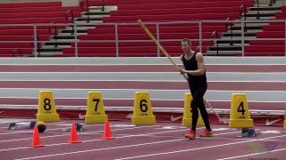 HOW TO POLE VAULT - Moving Plant Drills 6 Step Continuous Running Hang Drill