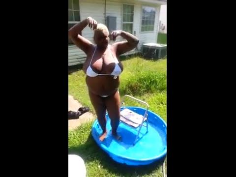 Funny old lady big tits ice bucket challenge