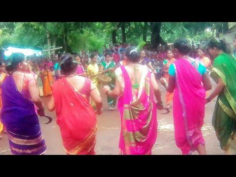 Aadiwasi Geet Collage Girls Warli Song And Dance, Ak Aadivasi Village.