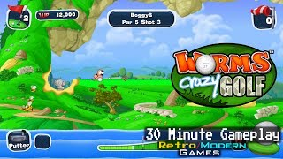 Worms Crazy Golf - PC - Gameplay