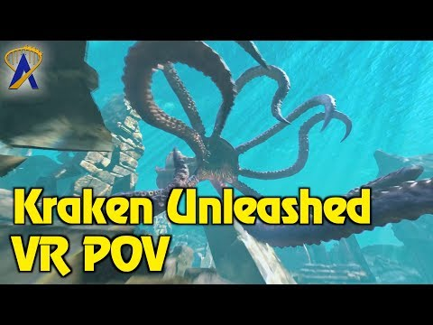 Kraken Unleashed Full VR POV - SeaWorld Orlando