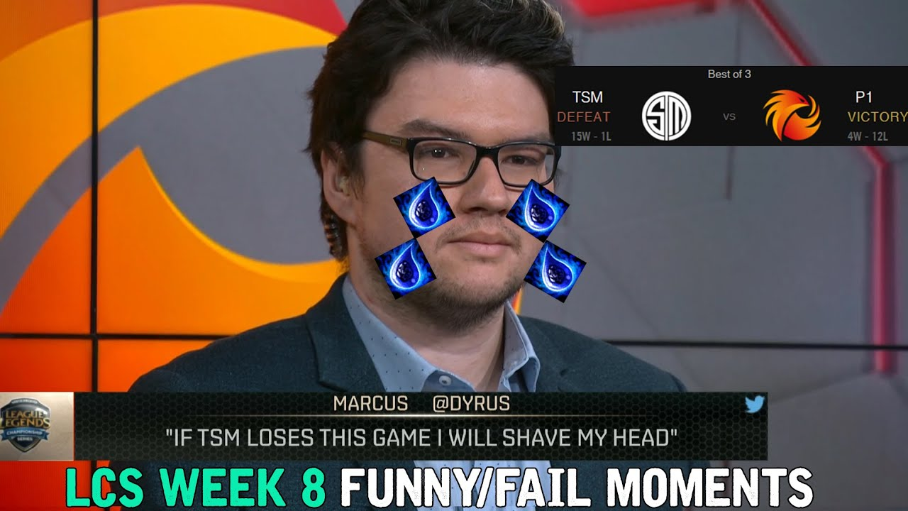 LCS WEEK eight FUNNY/FAIL MOMENTS   2016 Summer season Break up