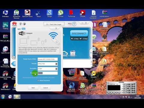 how to create free wifi hotspot using huawei mobile partner
