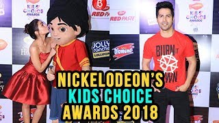 Varun Dhawan & Alia Bhatt At Nickelodeon's Kids Choice Awards 2018