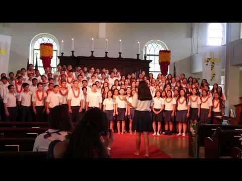 Kamehameha Schools Tri-Campus Worship 2014: Maui seniors