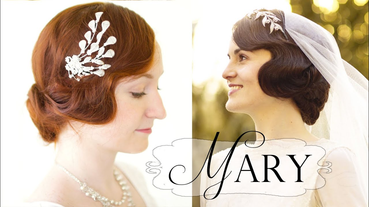 downton abbey hair tutorial - mary's 20s faux bob wedding style
