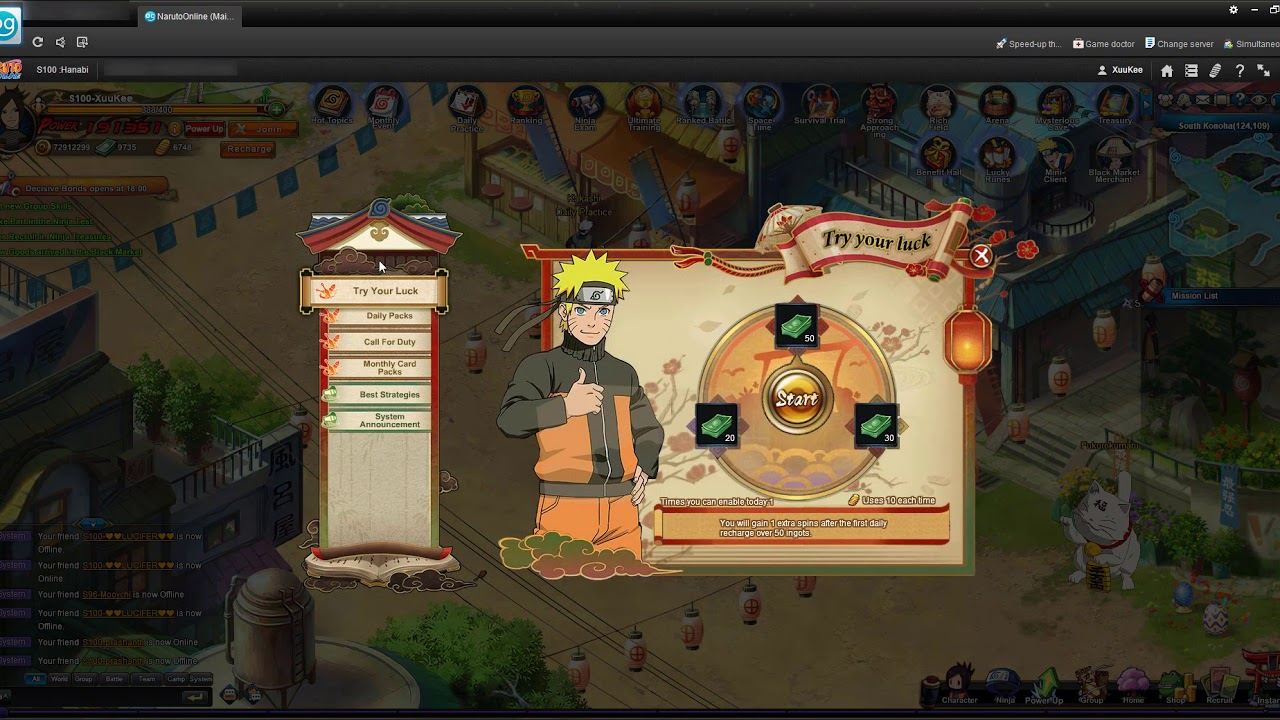 Crazy slot machine naruto online