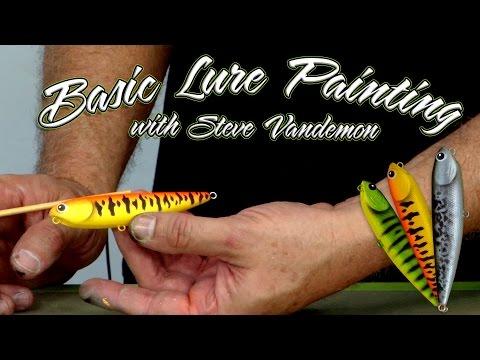 Basic Fishing Lure Airbrushing w/ Steve Vandemon