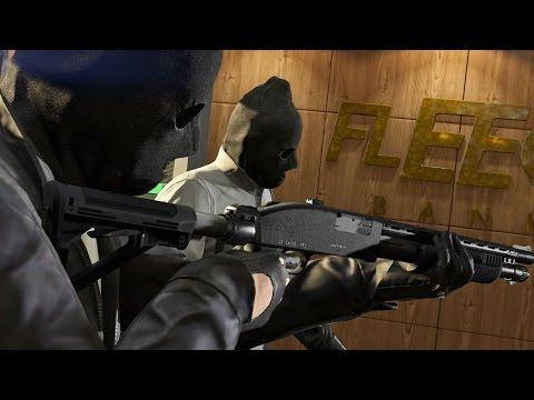GTA V Online Fleeca Job Heist w/ Red pt. 2/2 - Eco Friendly Gangsters