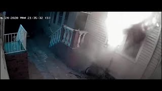 Man sets his house on fire with illegal fireworks