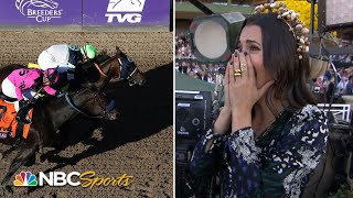 Reporter interviews her dad after his 45-1 longshot wins $2 million Breeders' Cup race | NBC Sports