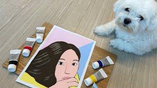 My daughter's first pop art ac…