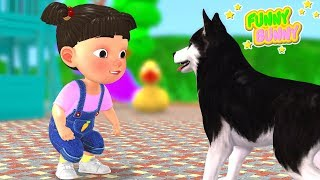 Bingo Song   little girl playing with a dog   Kinderlieder