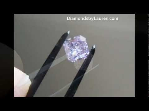 Natural .35ct Fancy Pink-Purple Diamond GIA graded