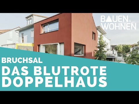 Das blutrote Doppelhaus in Bruchsal - viel Wohnfläche auf kleinem Grundstück