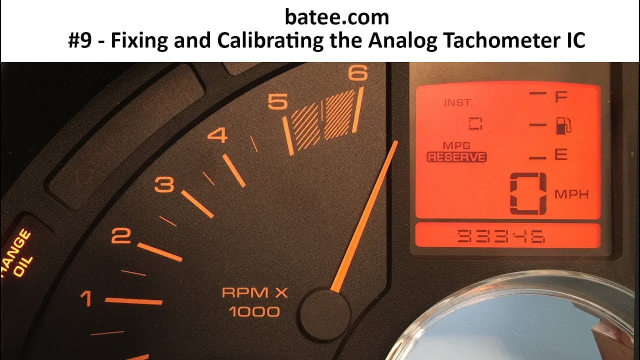 90-96 Corvette #12 - Fixing and Calibrating the Tachometer Gauge (2015)
