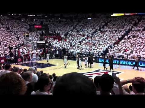 Washington Huskies vs Arizona Wildcats basketball at McKale Center - Whiteout - Tucson Feb. 19 2011