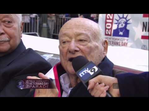 2012 NYC Veterans Day Parade - Ed Koch Interview