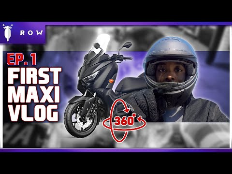 Maxi Scooter Vlog | Ep.1 | New Xmax 360 Camera Action