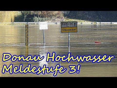 Donau Hochwasser 2018 - Meldestufe 3! - Zwischen Kelheim und Neustadt