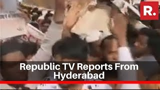 Republic Tv Reports From Hyderabad Over Protests Against Cab
