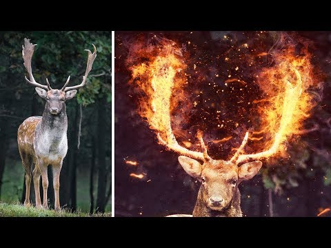 Fire Anything In Photoshop Using ONLY Brushes - Photoshop Tutorial