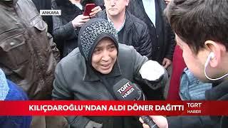 Kılıçdaroğlu'ndan Aldı, Vatandaşa Döner Dağıttı