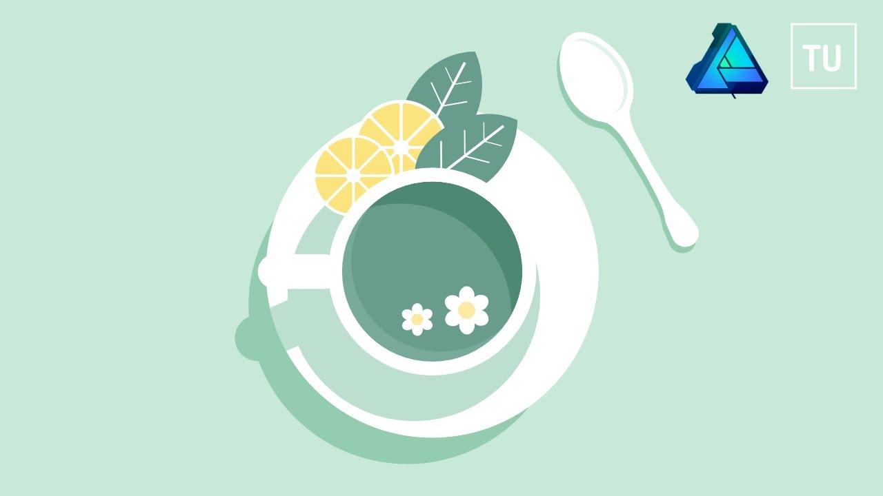 The Mint Tea Vector Illustration - Affinity Designer - YouTube