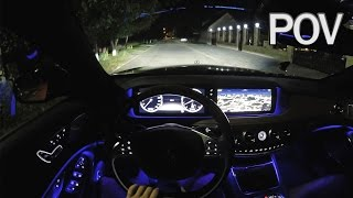 Mercedes-Benz S500 W222 2014 - POV Night Test Drive