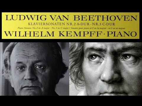 Beethoven / W. Kempff, 1964: Piano Sonata No. 2 in A Major, Op. 2 No. 2