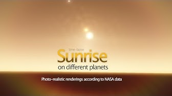 Sunrise on Different Planets (Nasa Data)
