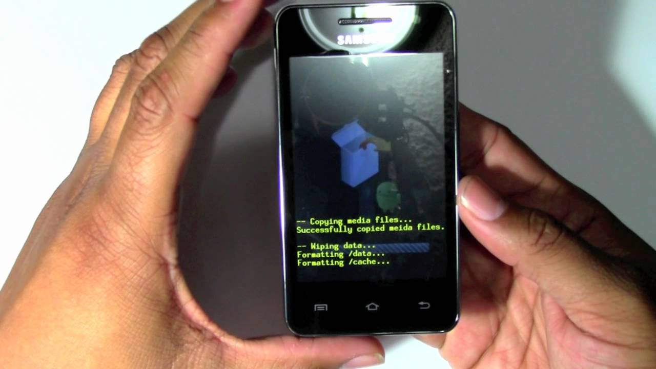 samsung galaxy player 36 how to reset back to factory