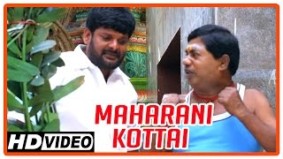 Maharani Kottai Tamil Movie | Scenes | Temple priest warns Richard and friends | Ganja Karuppu