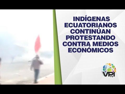 EN VIVO Desde Ecuador - Indígenas Continúan Protestando Contra Medios Económicos