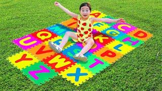 Boram aprender o alfabeto ❤ Boram learn the English alphabet