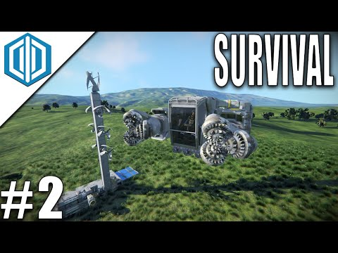 Space Engineers - SURVIVAL Ep 2 - Building A Mining Ship!