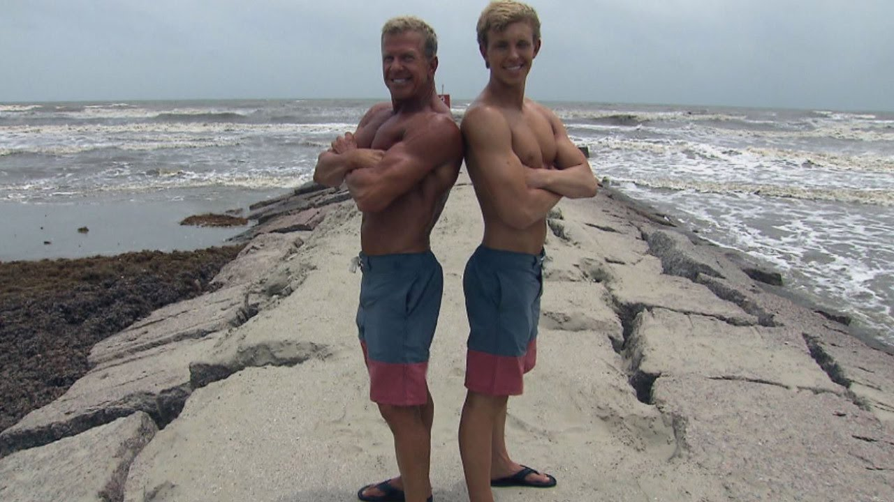 ca36286d2f These Father-Son Matching Swimsuits Are Hot for Summer - YouTube
