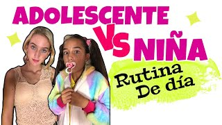 ADOLESCENTE  VS  NIÑA  con pinkys girls