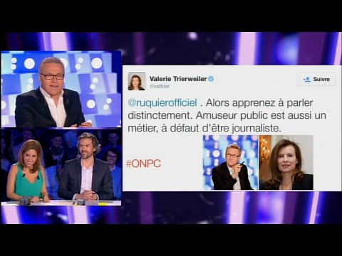 Laurent Ruquier s'exprime sur les tweets échangés avec Valérie Trierweiler #ONPC