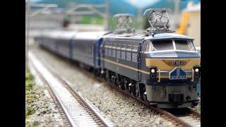 【ブルートレイン】寝台特急 国鉄24系客車EF65電気機関車