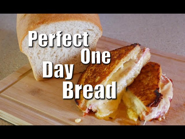Perfect One Day Bread Loaf