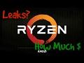 AMD/ Ryzen leaks | CPU's, pricing, Benchmark, and Release Date | Vega?
