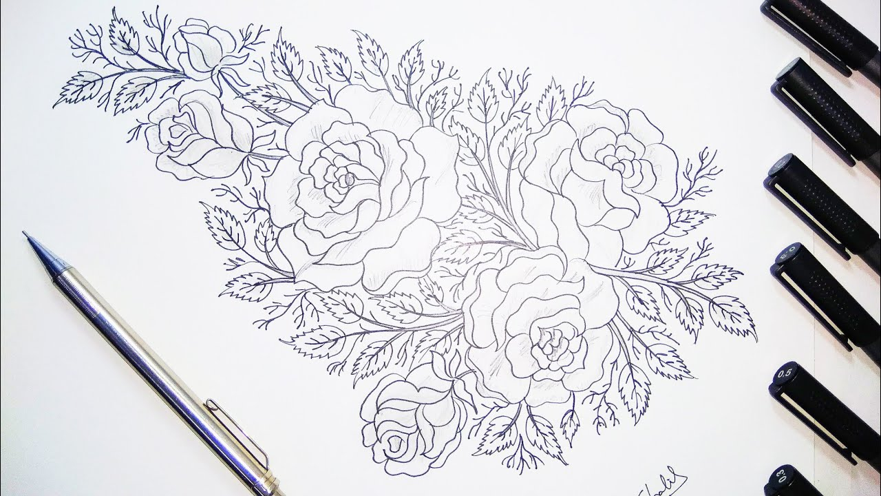 Greetingcard rose design