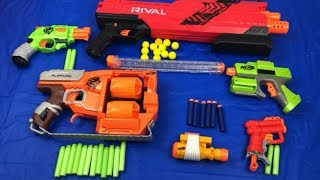 Lots of Toy Guns Box of Toys Nerf Guns Zombie Rival