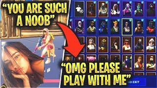 Girl Thinks I'm A DEFAULT, Then I Showed Her This.. (Fortnite)