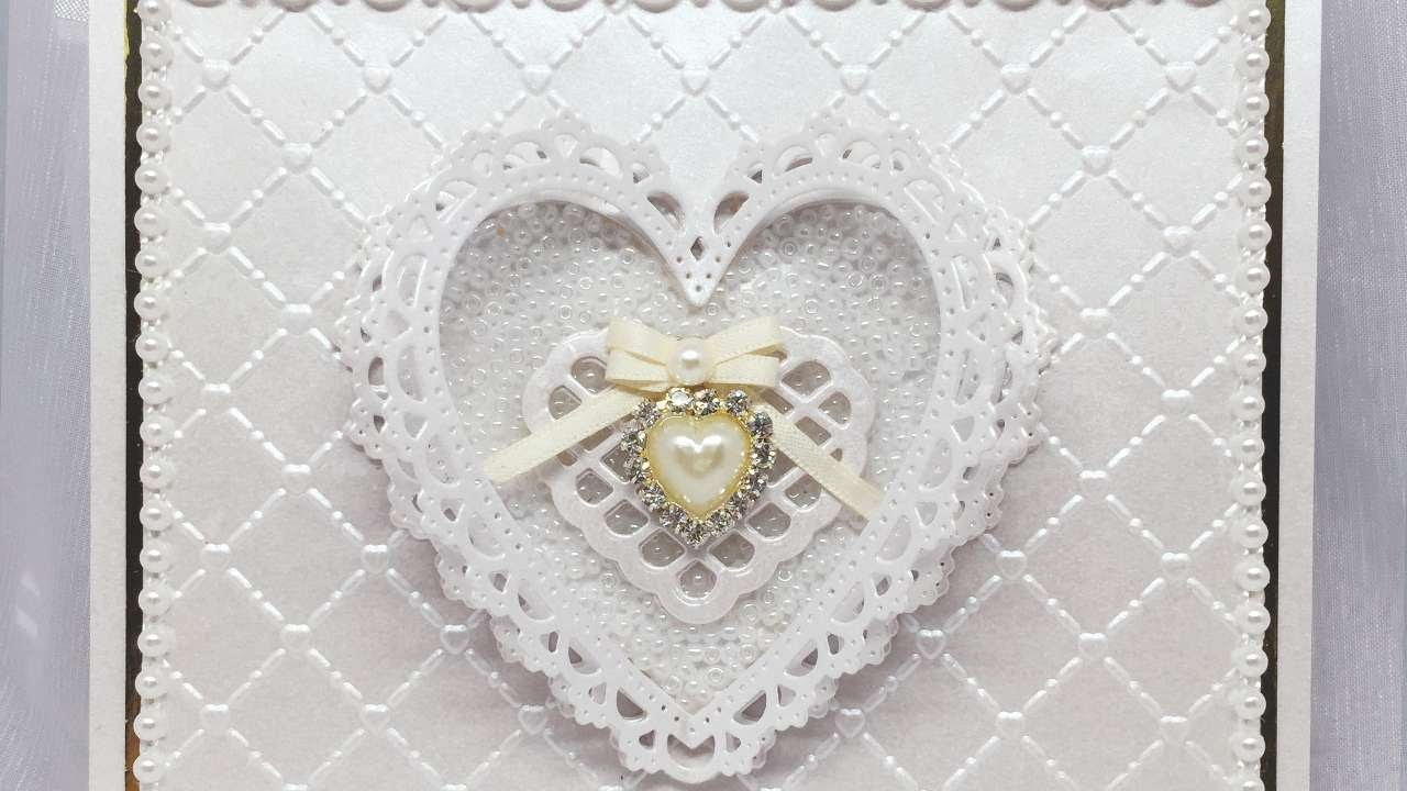 Card Making Ideas For Weddings Part - 39: How To Make A Pearl Wedding Anniversary Card - DIY Crafts Tutorial -  Guidecentral - YouTube