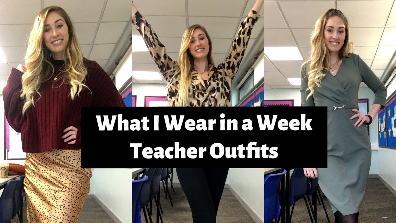 What I Wear in a Week | UK TEACHER EDITION | Autumn/Winter Outfits