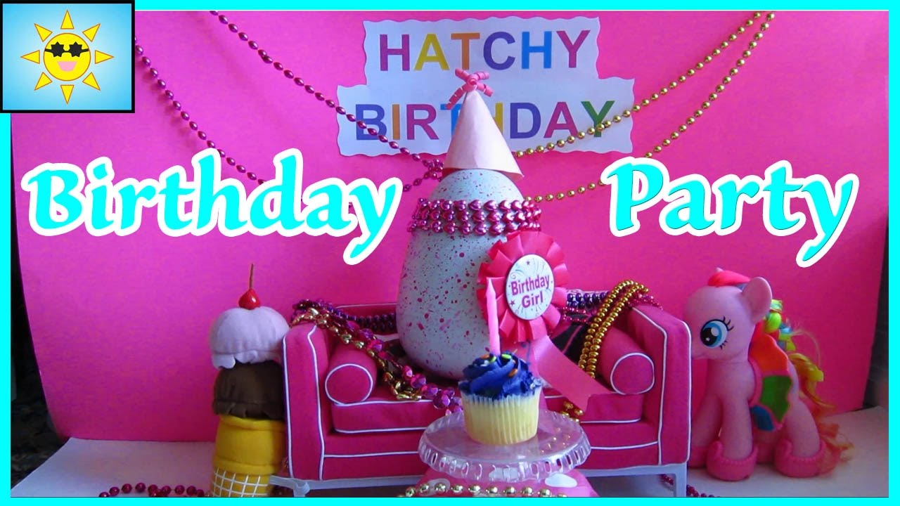 Hatchy Birthday Party Hatchimal Candles Cupcakes