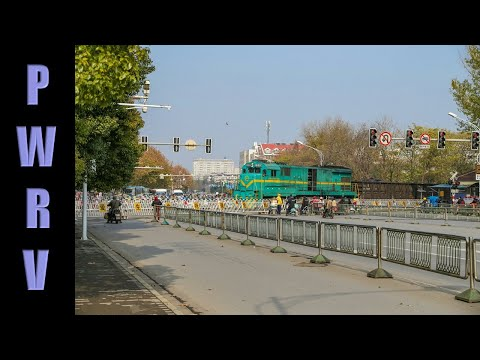 Chinese Trains - ND5 Diesels With Freight Trains In Nanjing (pt 1)